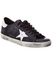 Golden Goose Superstar L27 Leather Sneakers - Black