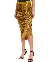 Rebecca Minkoff 3/4 Length Skirt - Yellow