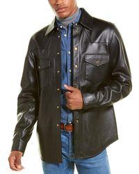 Gucci Logo Leather Shirt - Black