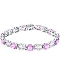 Diana M. Jewels . Fine Jewellery 18k 19.37 Ct. Tw. Diamond & Pink Sapphire Bracelet - Multicolour