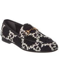 Gucci Jordaan GG Tweed Loafer - Black
