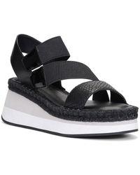 Donald J Pliner Leather Wedge Sandals - Black