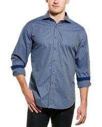 Bugatchi Woven Shirt - Blue