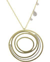 Meira T 14k 0.38 Ct. Tw. Diamond Necklace - Metallic