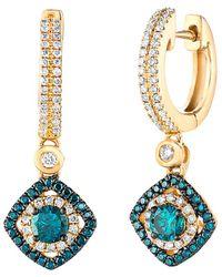 Le Vian ? 14k 0.81 Ct. Tw. Diamond Earrings - Blue