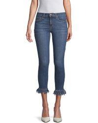 Joe's Mabel Skinny Cropped Jeans - Blue