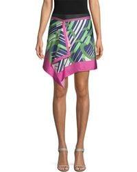 Carven Silk Drape Skirt - Multicolor