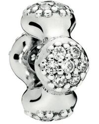 PANDORA Modern Lovepods Silver Spacer - Metallic
