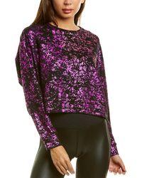 Terez Foil Printed Sweatshirt - Purple