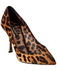 Dolce & Gabbana Leopard Heel - Brown