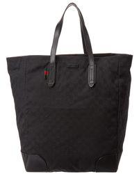 73f5c0ceab5 Lyst - Gucci Canvas Tote Bag - Vintage in Black