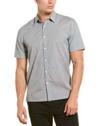 Theory Irving Ss.morris Print Woven Shirt - Grey
