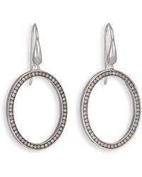 Ippolita - Stella Diamond & Sterling Silver Medium Oval Drop Earrings - Lyst