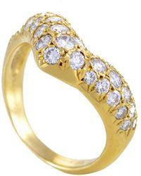 Van Cleef & Arpels Vintage - Van Cleef & Arpels 18k 1.20 Ct. Tw. Diamond Ring - Lyst