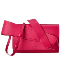 Delpozo Structured Design Leather Crossbody - Pink