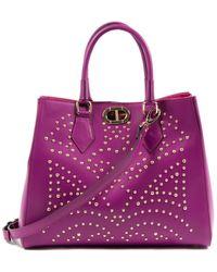 Dee Ocleppo Dee Tokyo Leather Tote - Purple