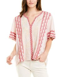 Johnny Was Linen Blouse - Pink