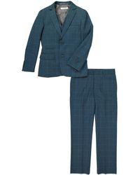 Isaac Mizrahi New York - Plaid Notch Lapel Suit - Lyst