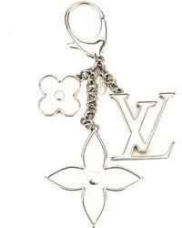 Louis Vuitton Ivory & Silver-tone Fleur D'epi Bag Charm - Metallic