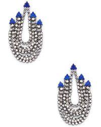 Elizabeth Cole - Glass Stone Drop Earrings - Lyst