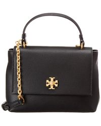Tory Burch Kira Top Handle Mini Leather Satchel - Black