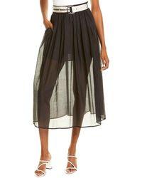 Marella Capanna Silk-blend Skirt - Black