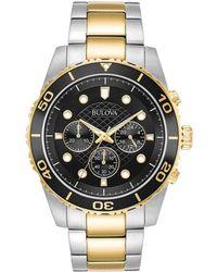 Bulova Men's Stainless Steel Watch - Metallic