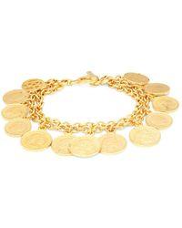 Ben-Amun - Goldtone Coin Charm Bracelet - Lyst