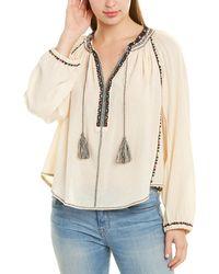 Isabel Marant Etoile Embroidered Tie-neck Blouse - White