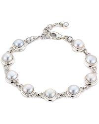 Samuel B. Silver 8mm Pearl Bracelet - Metallic