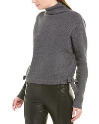 BCBGMAXAZRIA Tie-side Wool-blend Sweater - Gray