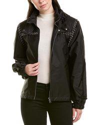 Moncler Genius 6 Leather-trim Jacket - Black