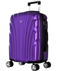 Olympia Vortex 21in Expandable Carry-on Spinner - Purple