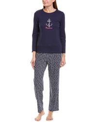 Nautica 2pc Pyjama Pant Set - Blue