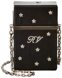 Roger Vivier Rv Stars Rivets Leather Cigarette Case - Black