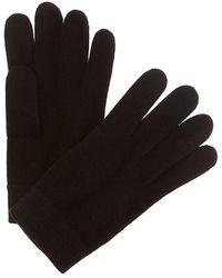 Portolano Straight Cuff Cashmere Gloves - Black