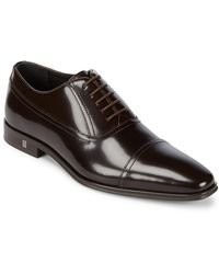 Versace Patent Leather Oxfords - Brown