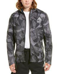 adidas Own The Run Camo Jacket - Gray