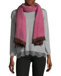 Bajra Cashmere & Silk Scarf - Pink