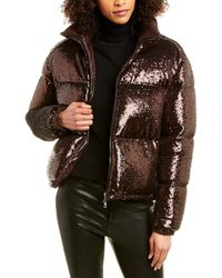 Moncler Caille Velvet Down Jacket - Brown