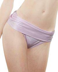 La Perla Silk Bikini Bottom - Pink