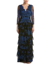 Alice + Olivia Silk-blend Maxi Dress - Blue