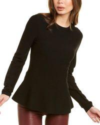 Theory Peplum Sweater - Black