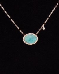 Meira T 14k & Silver 3.42 Ct. Tw. Diamond & Blue Amazonite Necklace