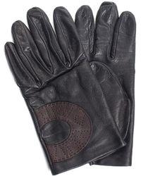 Hermès Black Leather Wrist Length Glove (size Small)