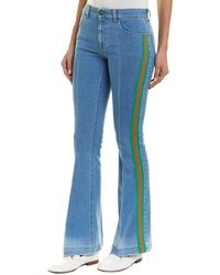 Gucci Stretch Denim Flare Pant - Blue