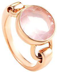 Poiray 18k 3.50 Ct. Tw. Rose Gold Quartz Ring - Metallic