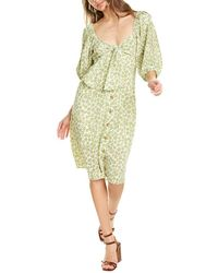 Lucy Paris Wilsa Midi Dress - Green