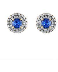 Heritage 18k 1.40 Ct. Tw. Diamond & Sapphire Earrings - Blue
