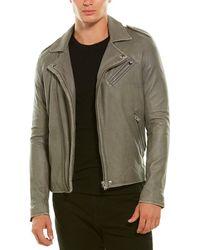 IRO Adeo Leather Biker Jacket - Grey